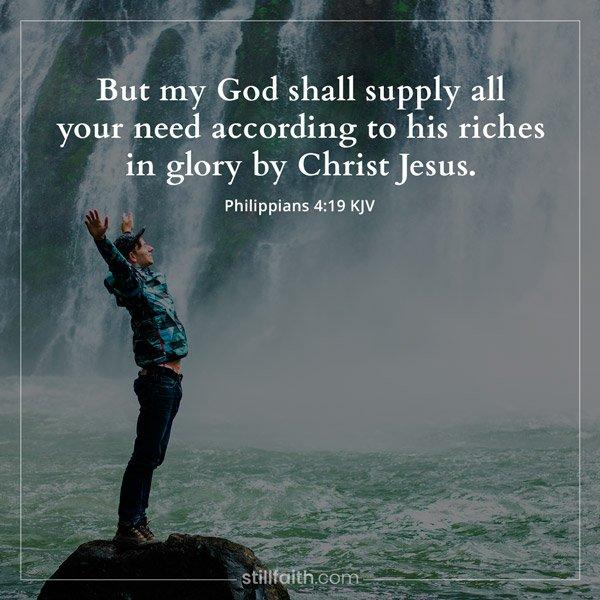 Philippians 4:19 KJV