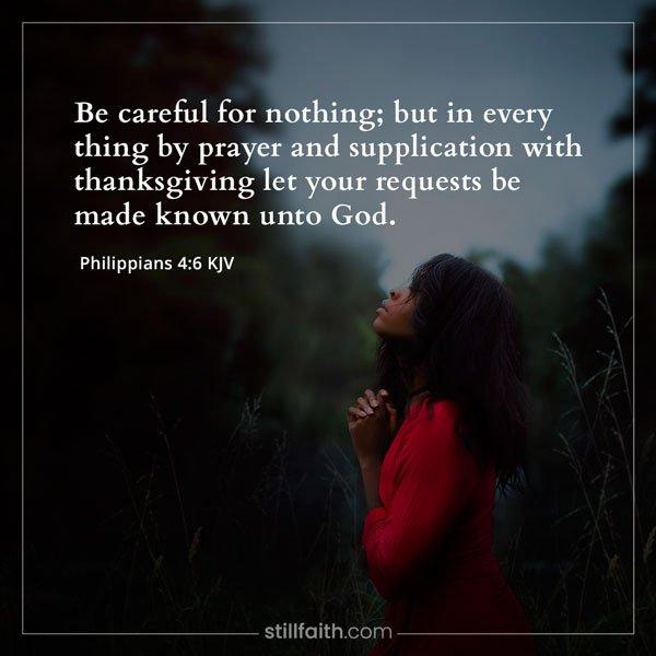 Philippians 4:6 KJV Image