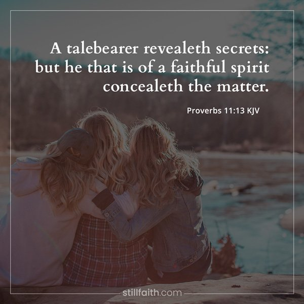 Proverbs 11:13 KJV Image