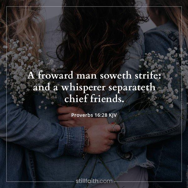 Proverbs 16:28 KJV Image