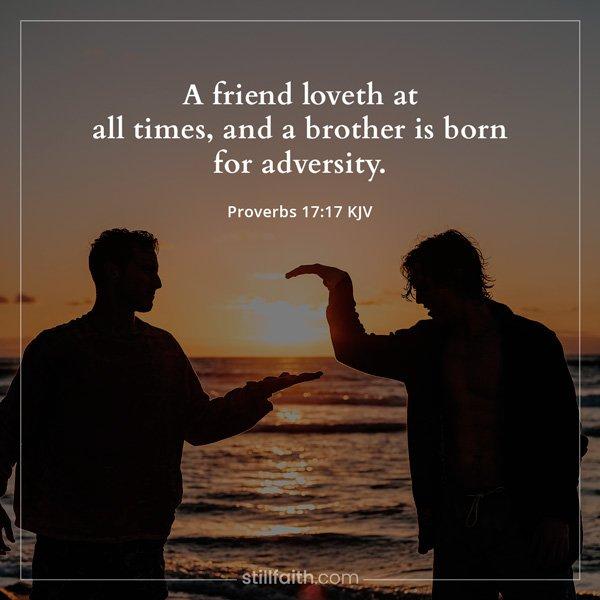 Proverbs 17:17 KJV