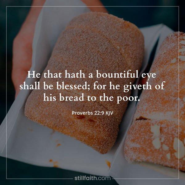 Proverbs 22:9 KJV Image