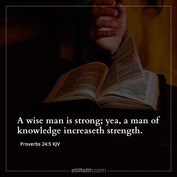 Proverbs 24:5 KJV Image