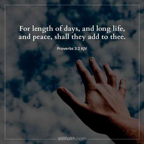Proverbs 3:2 KJV Image