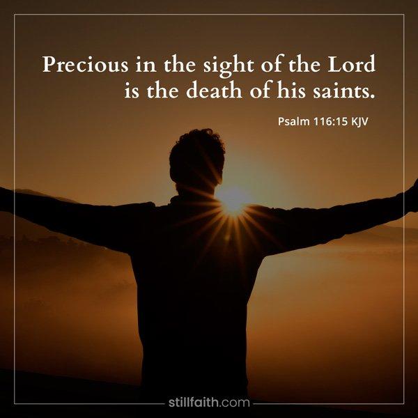 Psalm 116:15 KJV Image