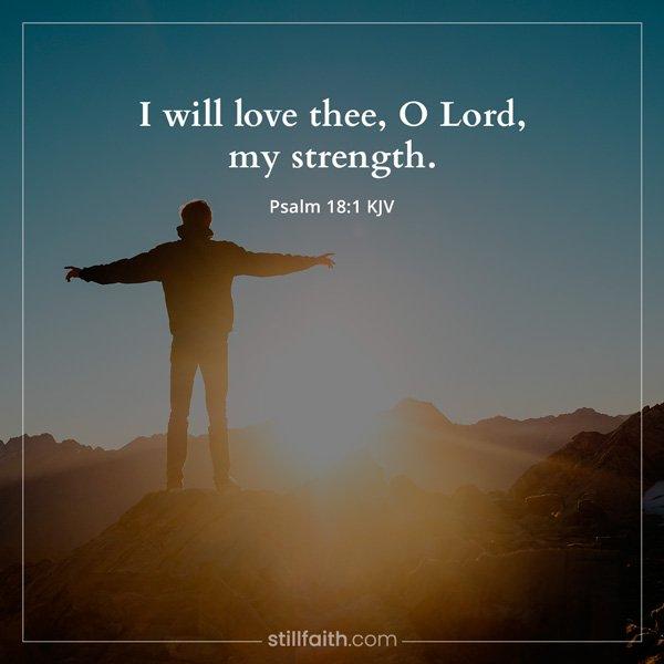 Psalm 18:1 KJV Image