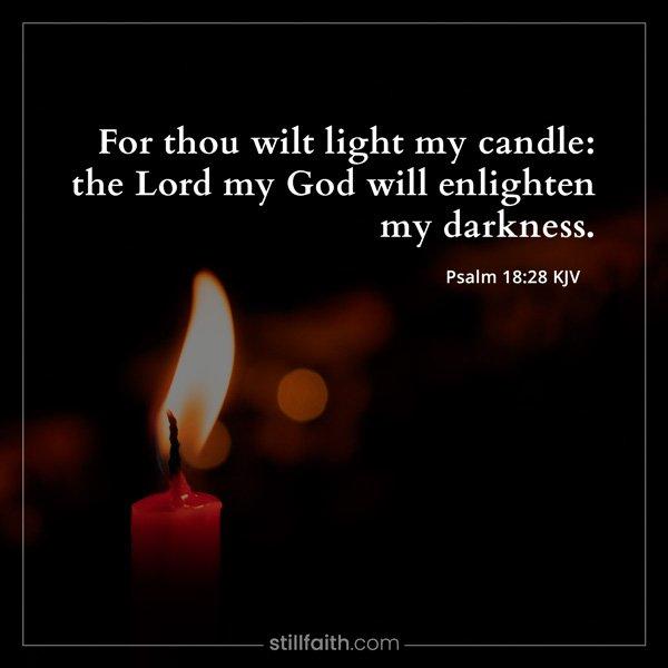 Psalm 18:28 KJV Image