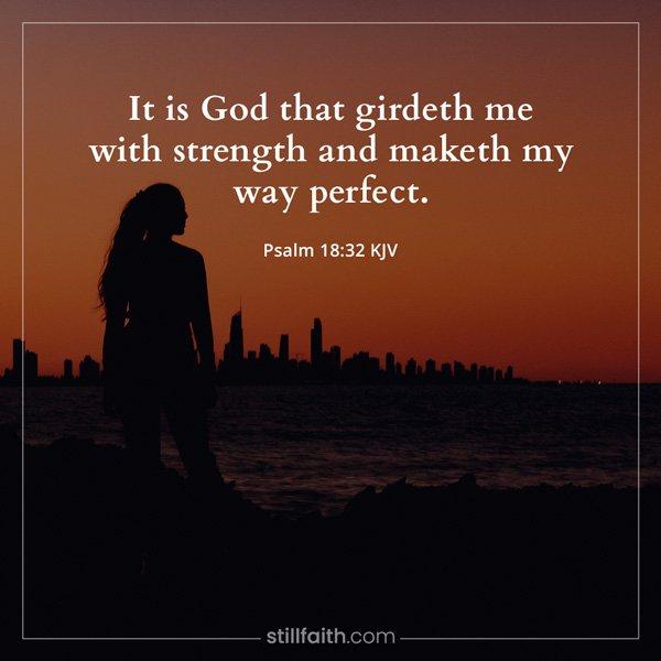 Psalm 18:32 KJV Image