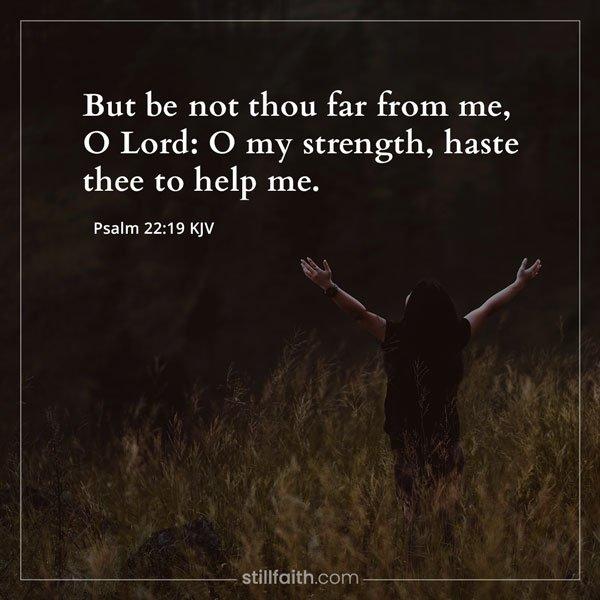 Psalm 22:19 KJV Image