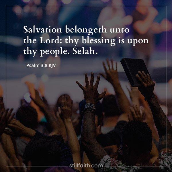Psalm 3:8 KJV Image