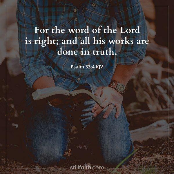 Psalm 33:4 KJV Image