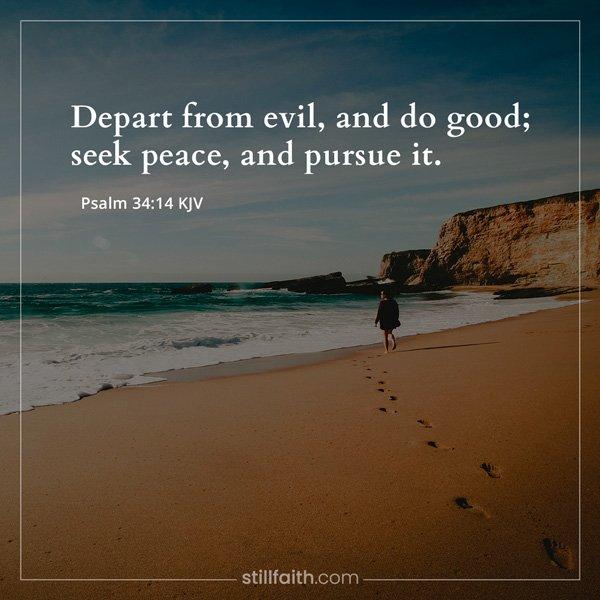 Psalm 34:14 KJV Image