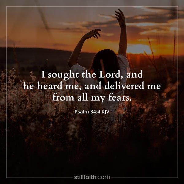 Psalm 34:4 KJV Image