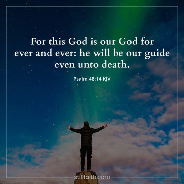 Psalm 48:14 KJV Image