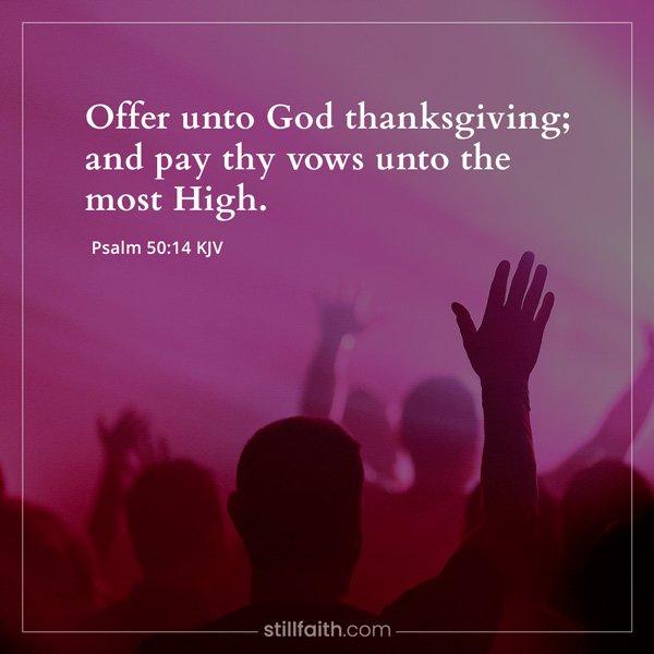 Psalm 50:14 KJV Image
