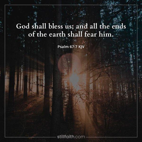 Psalm 67:7 KJV Image