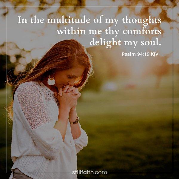 Psalm 94:19 KJV Image