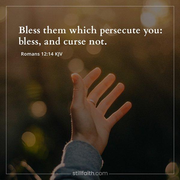Romans 12:14 KJV Image