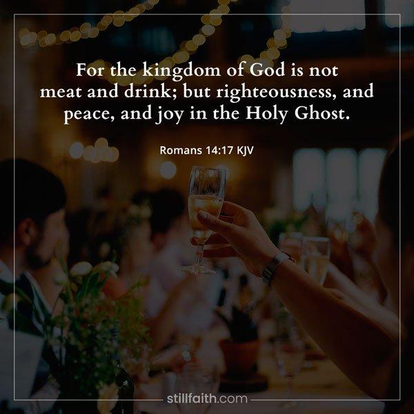 Romans 14:17 KJV Image