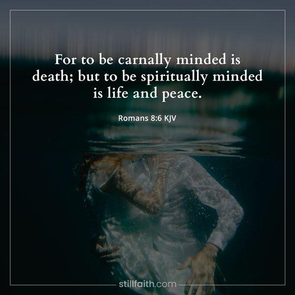 Romans 8:6 KJV Image