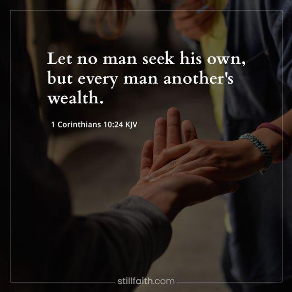 1 Corinthians 10:24 KJV Image