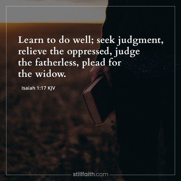 Isaiah 1:17 KJV Image