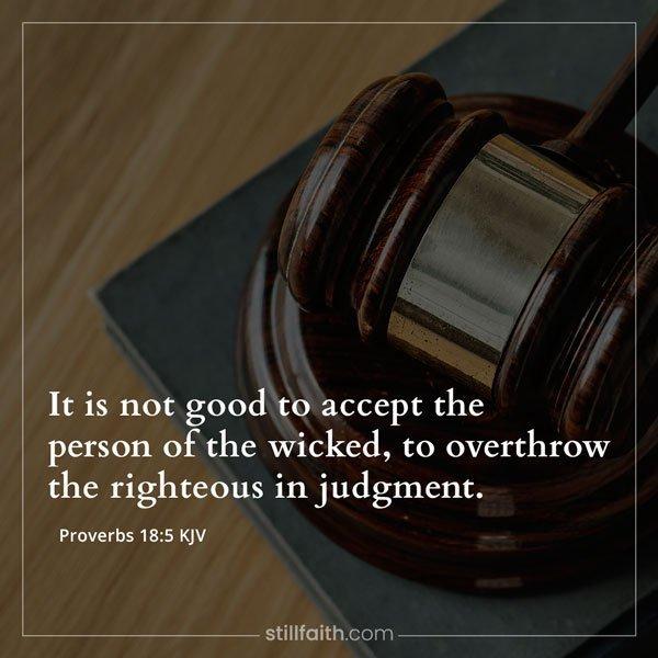 Proverbs 18:5 KJV Image