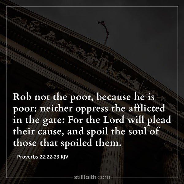 Proverbs 22:22-23 KJV Image