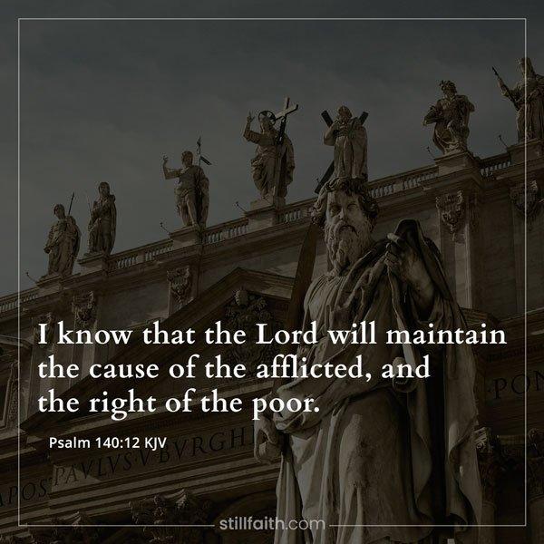 Psalm 140:12 KJV Image