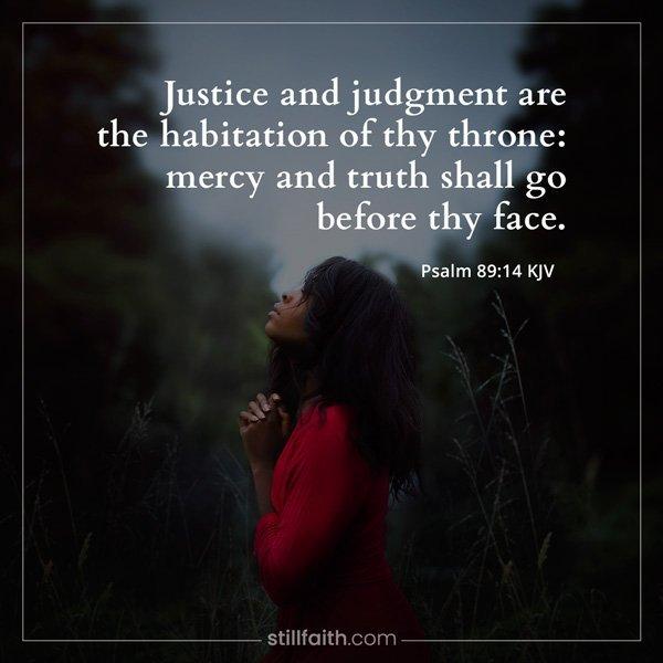 Psalm 89:14 KJV Image