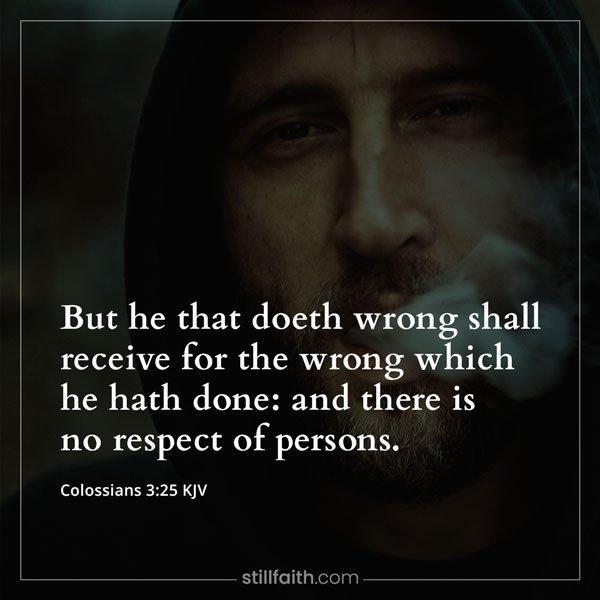Colossians 3:25 KJV Image