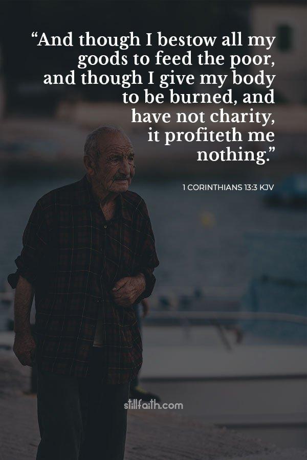 1 Corinthians 13:3 KJV Image