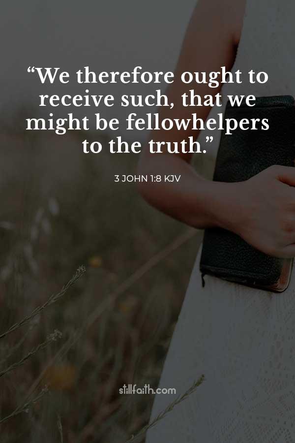 3 John 1:8 KJV Image