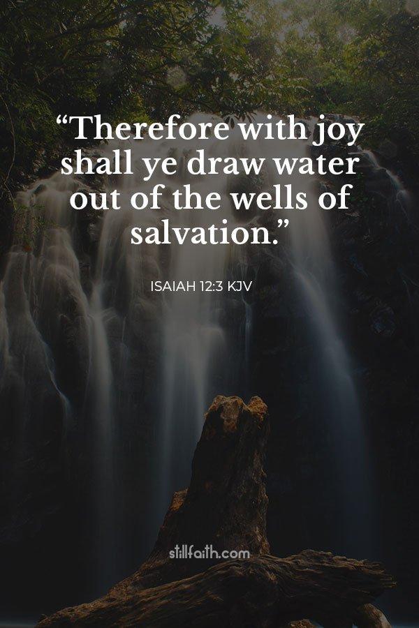 Isaiah 12:3 KJV Image