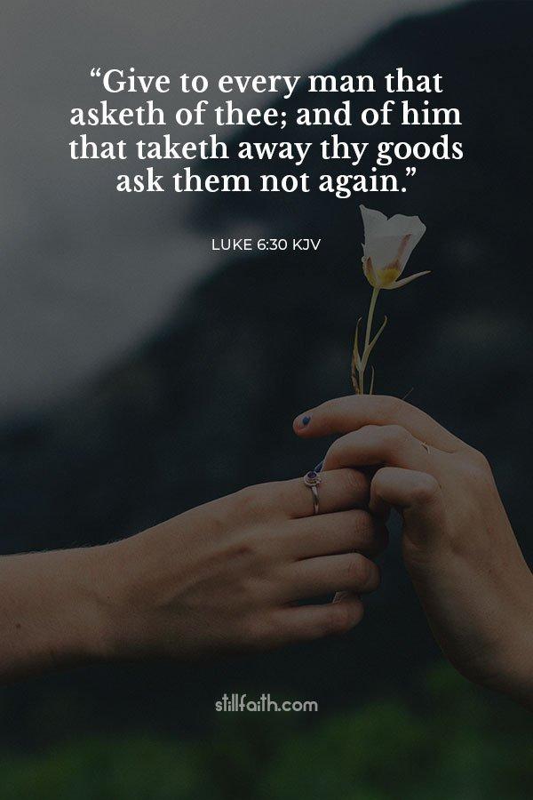 Luke 6:30 KJV Image