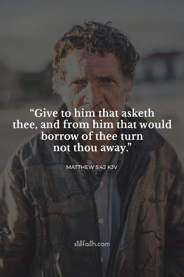 Matthew 5:42 KJV Image