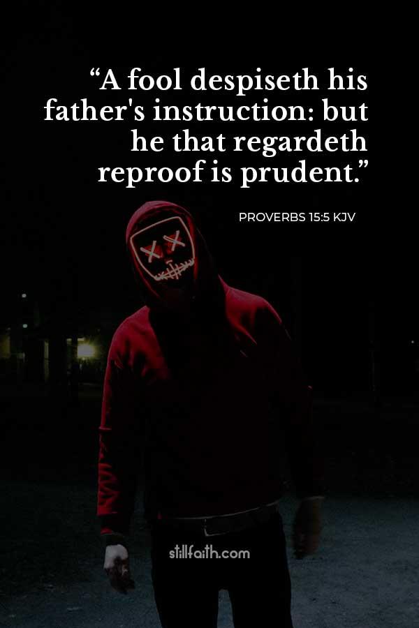 Proverbs 15:5 KJV Image