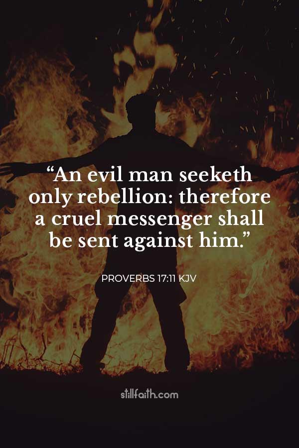 Proverbs 17:11 KJV Image