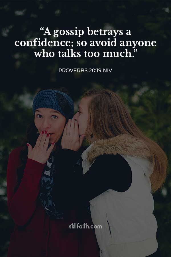 Proverbs 20:19 NIV Image