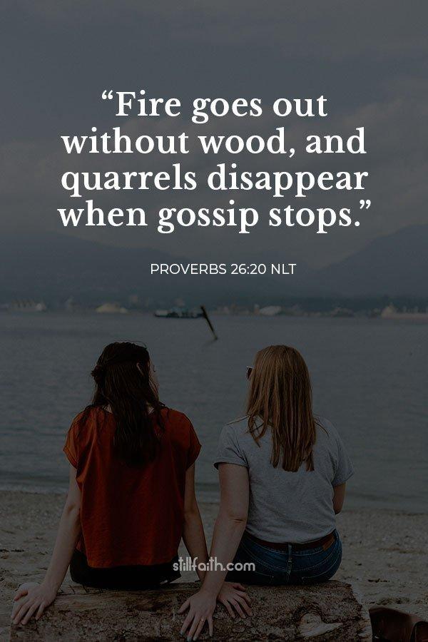 Proverbs 26:20 NLT Image