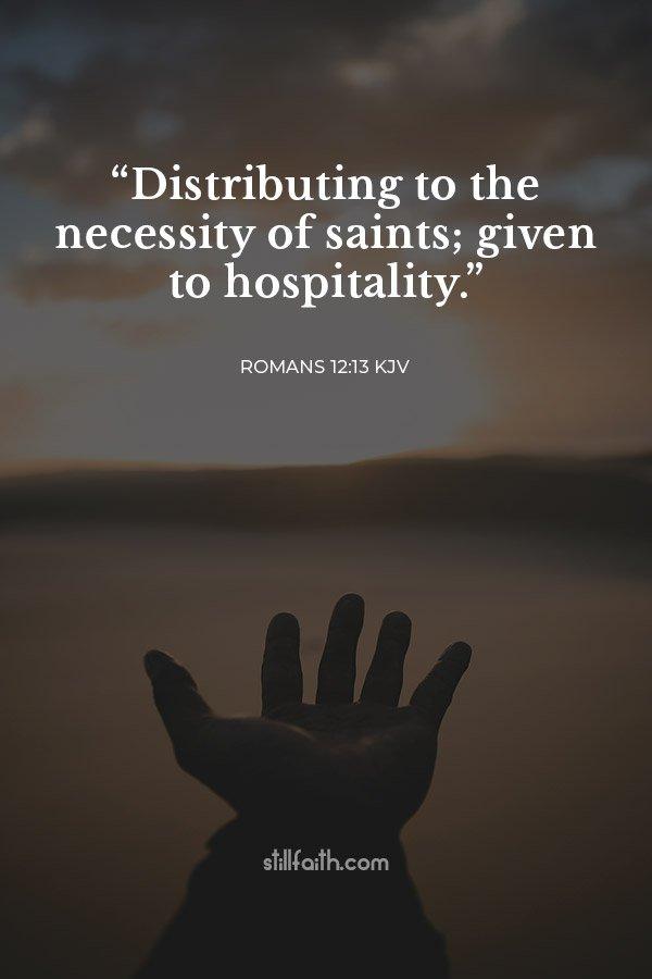 Romans 12:13 KJV Image