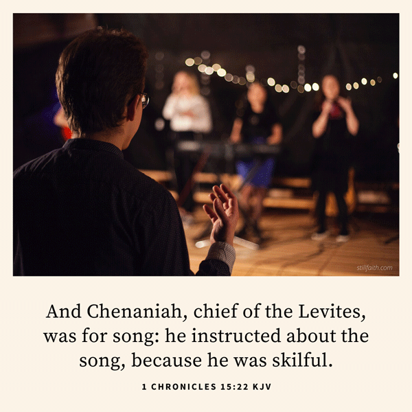 1 Chronicles 15:22 KJV Image