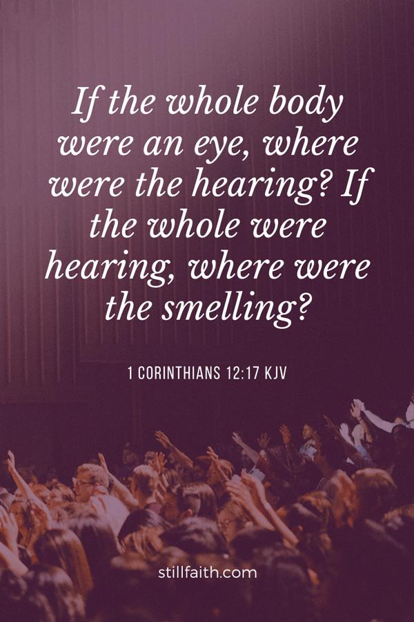 1 Corinthians 12:17 KJV Image