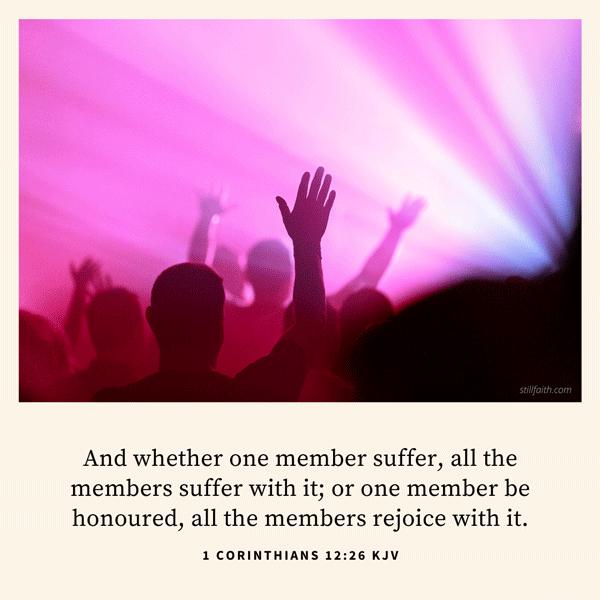 1 Corinthians 12:26 KJV Image