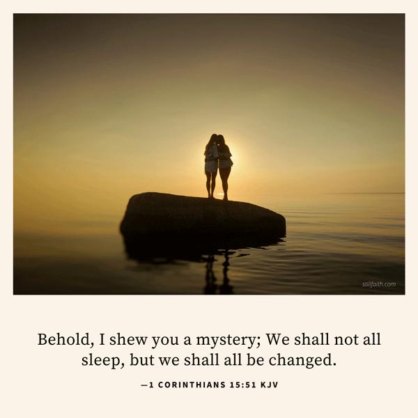 1 Corinthians 15:51 KJV Image