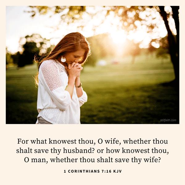 1 Corinthians 7:16 KJV Image