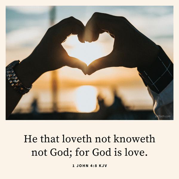1 John 4:8 KJV Image