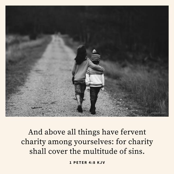1 Peter 4:8 KJV Image
