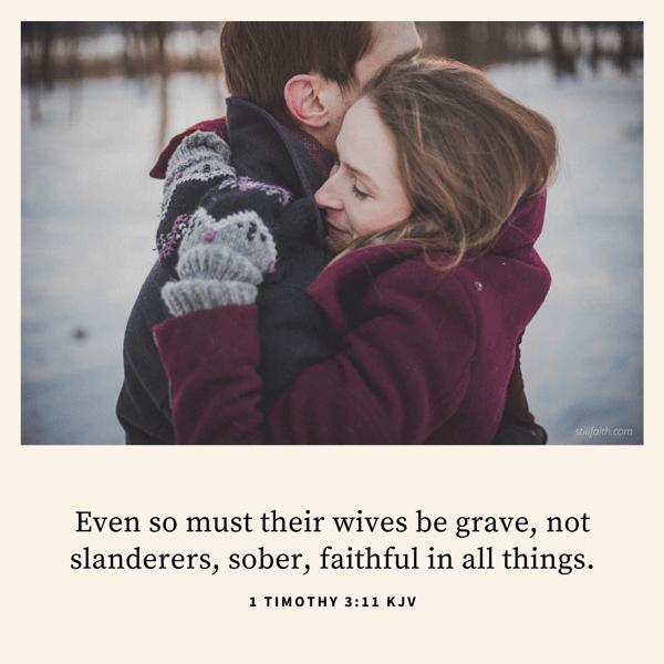 1 Timothy 3:11 KJV Image