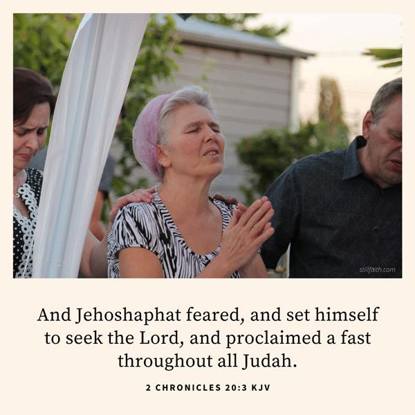 2 Chronicles 20:3 KJV Image